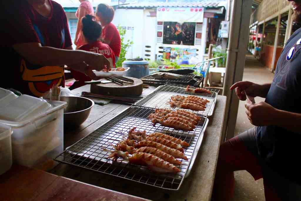 Republic of Rose Beginner's Guide to Thai Food Street Meat on a Stick Squid