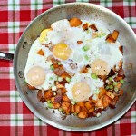 Sweet Potato And Bacon Hash With Eggs