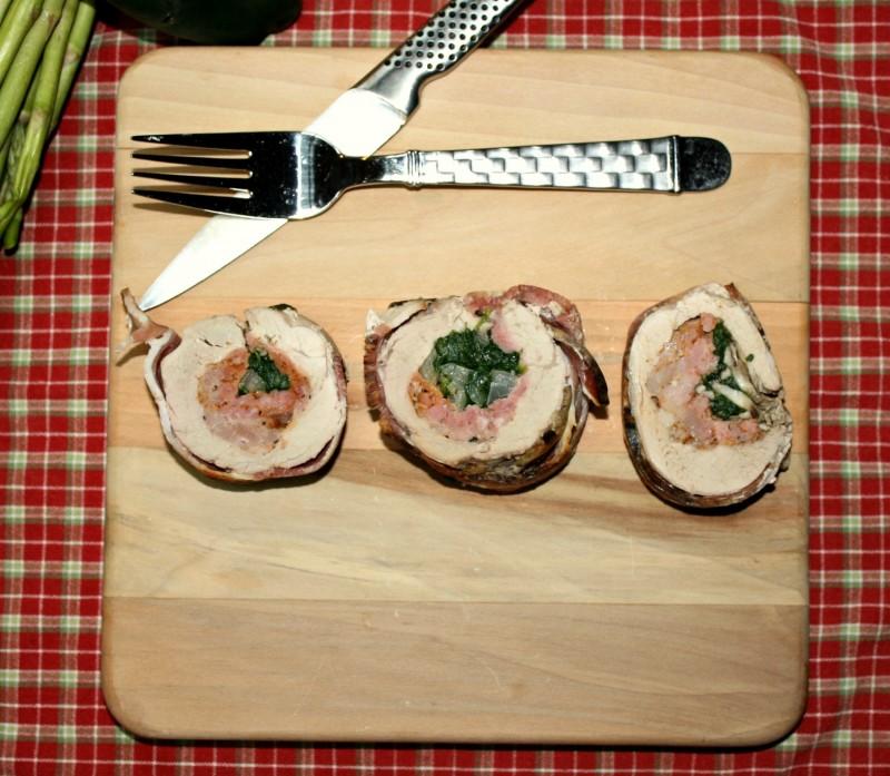 2200 sliced pork loin overhead
