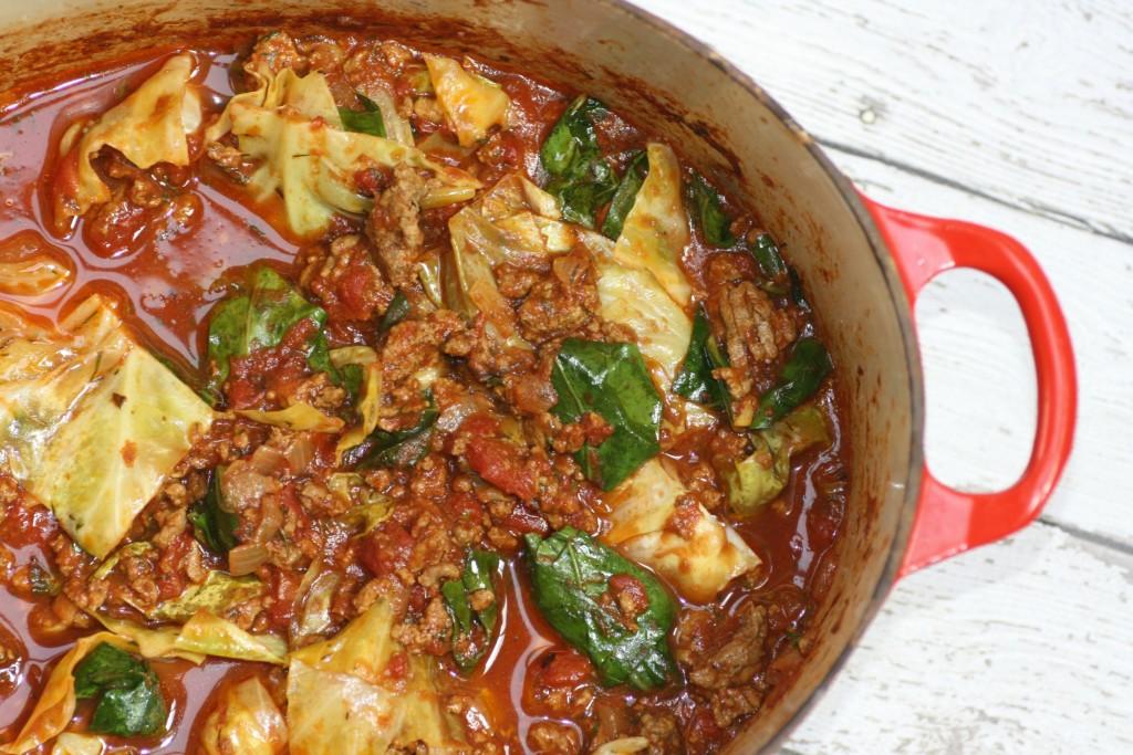Unstuffed Cabbage (partial pot)