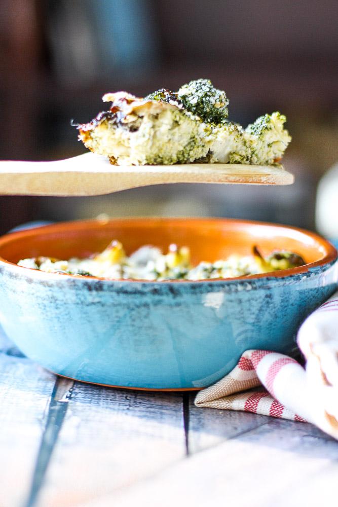 creamy broccoli and mushroom casserole