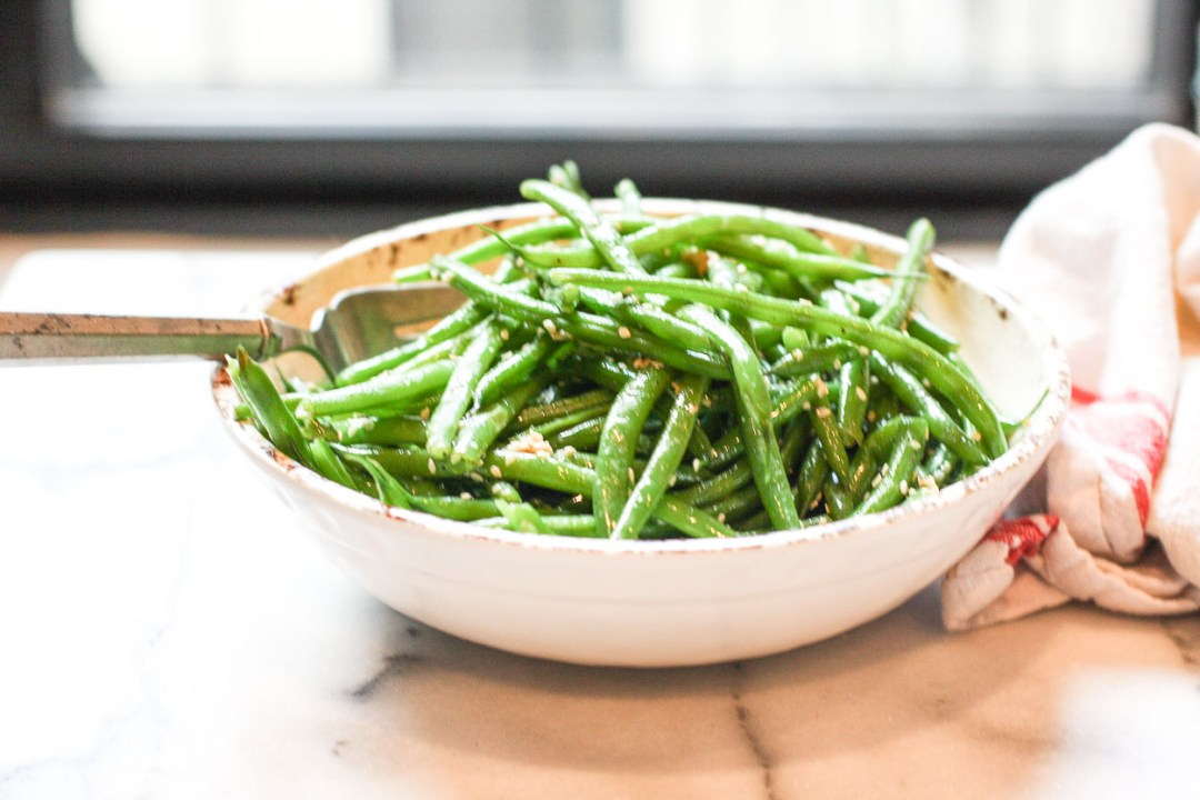 Sesame Green Beans | Kitchen of Youth