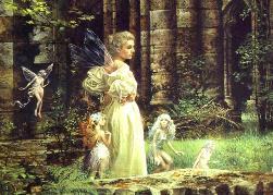 Nature Spirits, Angel, Fairies in Garden
