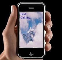 Photo of phone that says God Calling