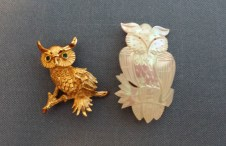 Mother's owl pins
