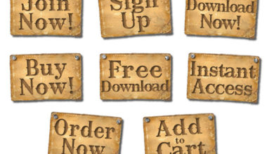 Free Giveaway – Rustic Old Paper Call to Action Buttons