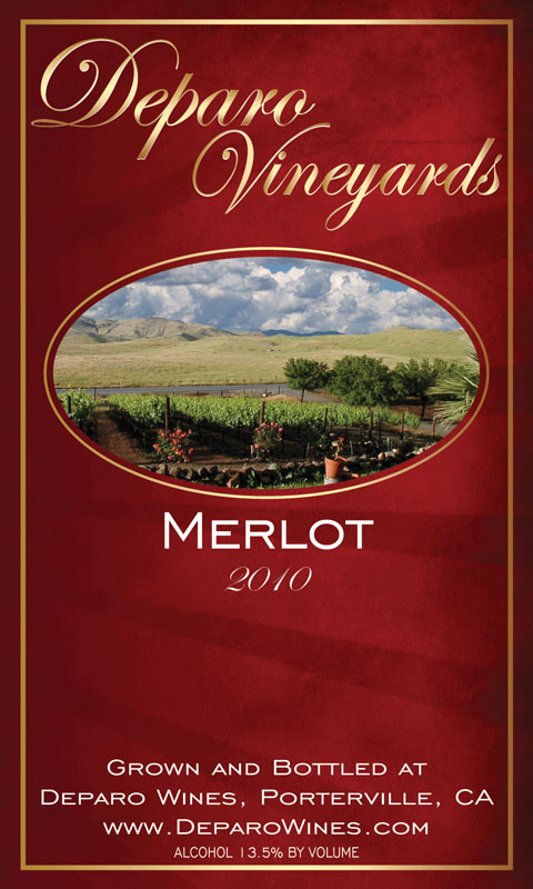 Deparo Winery Labels