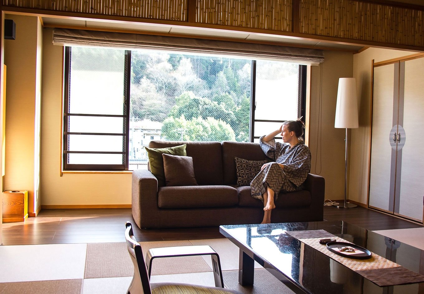 Room at a traditional ryokan in Japan.