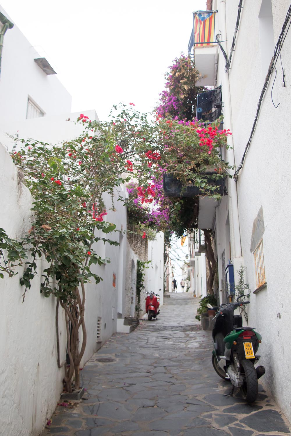 alley with motorbikes