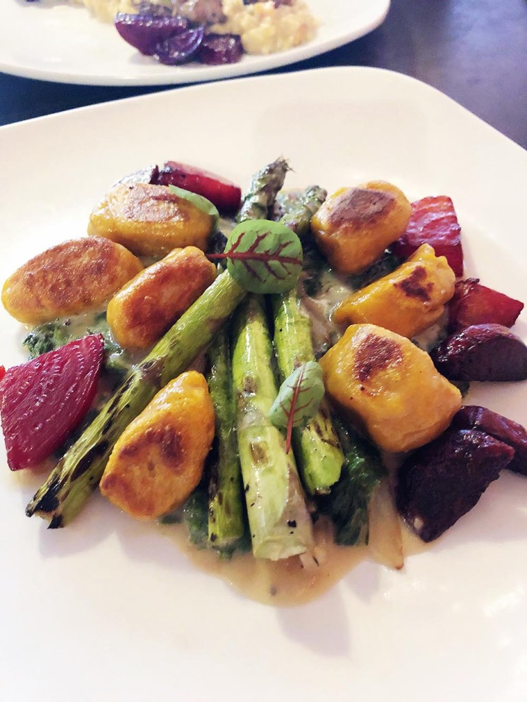 Locally-sourced vegetarian gnocchi at Fiction Kitchen in Raleigh, NC