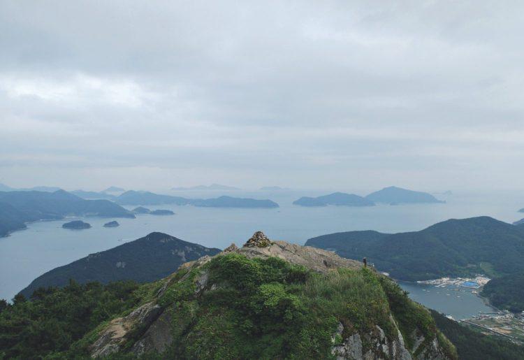 View from the top of Mireuksan, Tongyeong