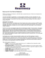 Insurance for Food Service Businesses