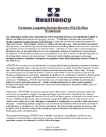 Pre-disaster Long-term Strategic Recovery _PDLTR_ Plans