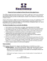 Primer for Understanding the Federal Disaster Declaration Process