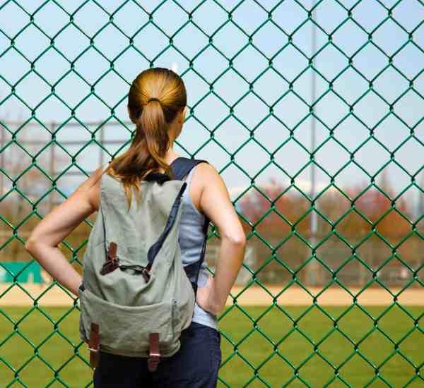 Baseball Mom at game, baseball mom bag