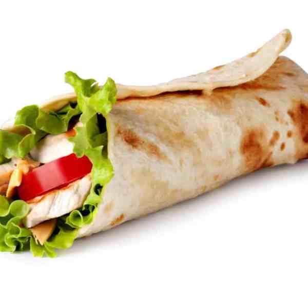 Chicken wrap, kid friendly lunch