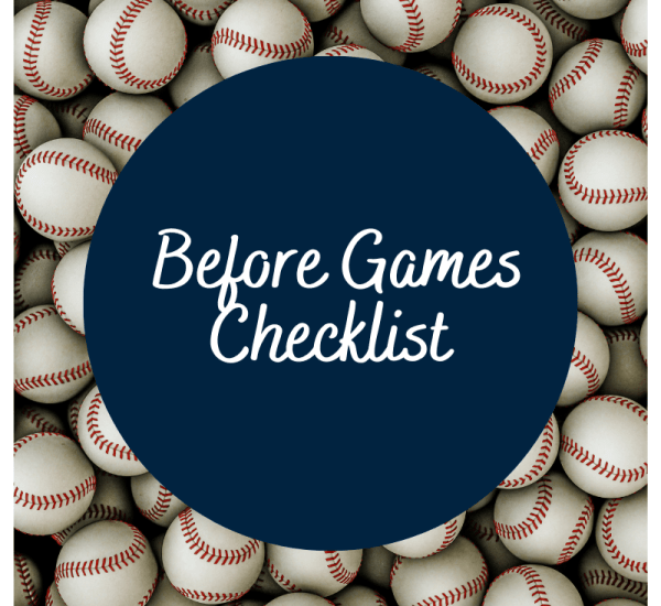 Before Games and Practice Checklist