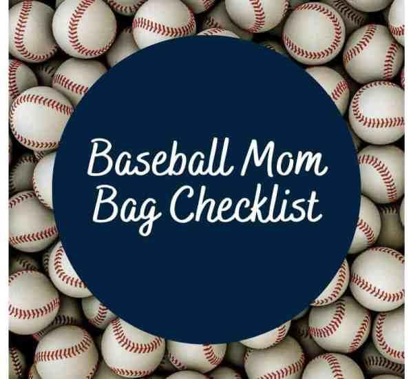 Baseball Mom Bag Checklist