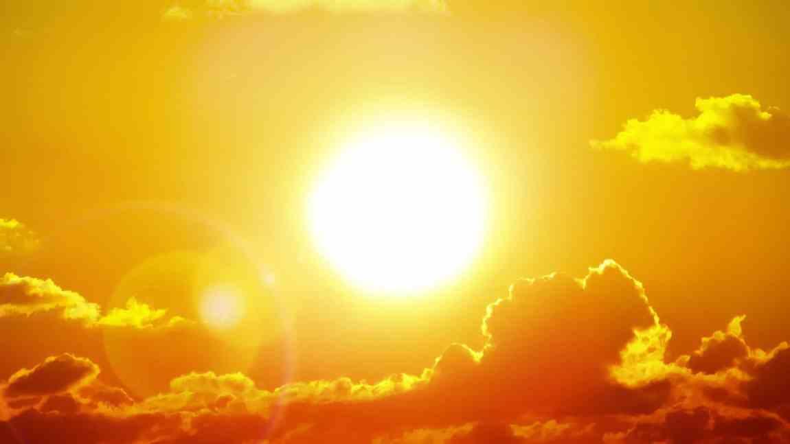 Hot summer sun, baseball