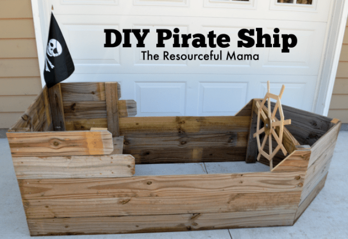 Set Sail with this DIY Pirate Ship - The Resourceful Mama