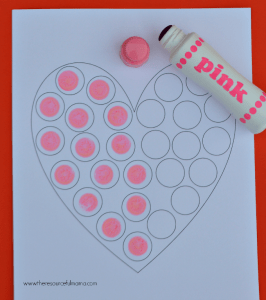 Heart Do a Dot Worksheet - The Resourceful Mama