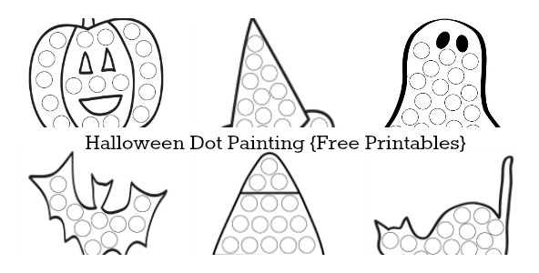 Halloween Dot Painting {Free Printables} - The Resourceful ...