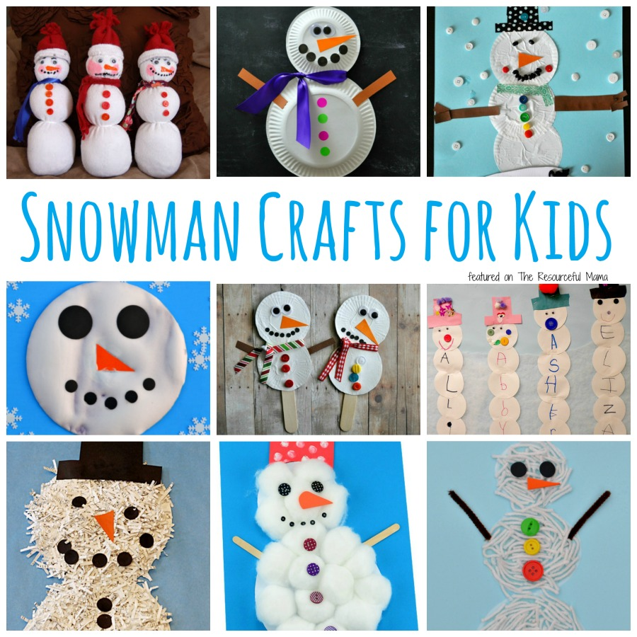 23 Fun Amp Cute Snowman Crafts For Kids The Resourceful Mama