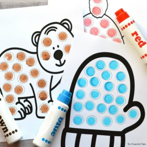 Winter Dot Painting {Free Printable} - The Resourceful Mama