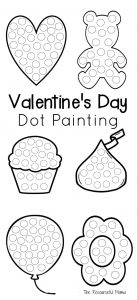Valentine's Day Dot Painting - The Resourceful Mama