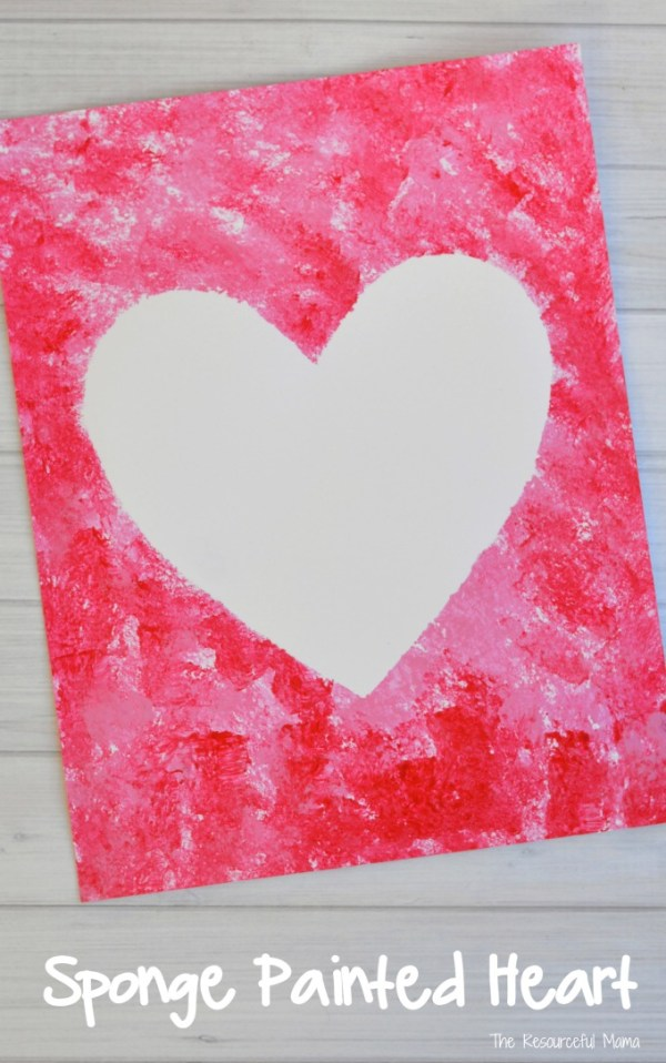 Sponge Painted Hearts Valentine's Day Art Project - The ...