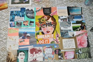 Gluing the Vision Board