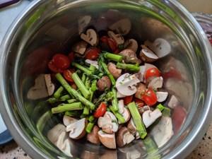 Healthy vegan vegetarian vegetables