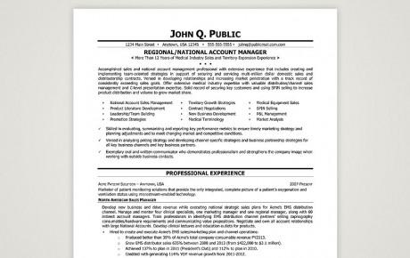 Resume Sample Professional Resume Sample