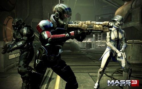 Shepard and Teammates in Mass Effect 3
