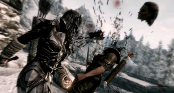 Skyrim's skill tree offers a perk that will increase the chance of decapitating your enemy upon their death.