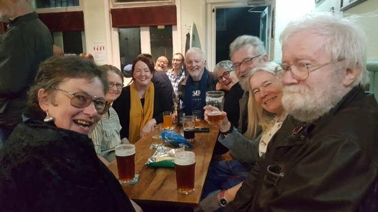 Bernie and Jane, past landlords of The Retreat pub in Reading, paying a visit on Saturday 26 October 2019