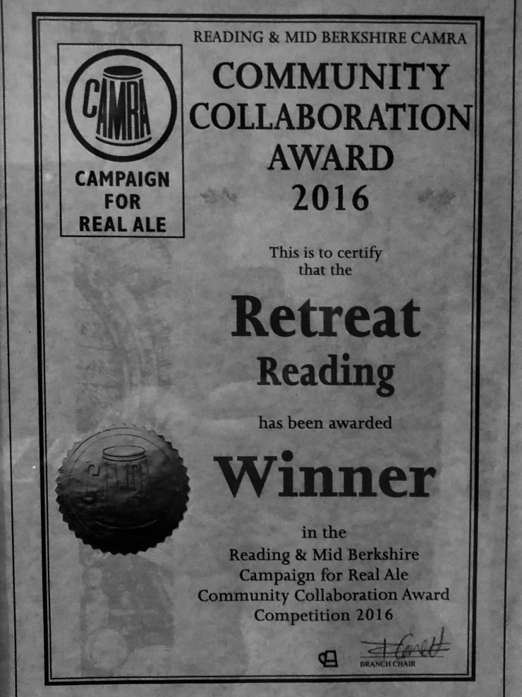The Retreat winners of the CAMRA Community Collaboration Award 2016
