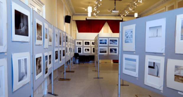 photographs on display