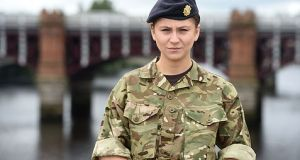 woman in british army uniform