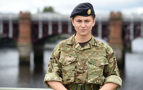 woman in british army uniform