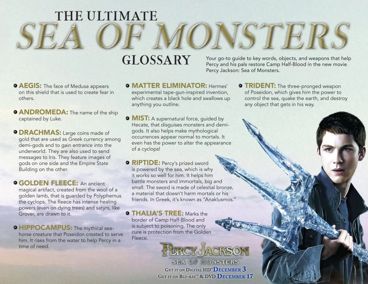 Percy Jackson Sea Of Monsters Activity Sheets