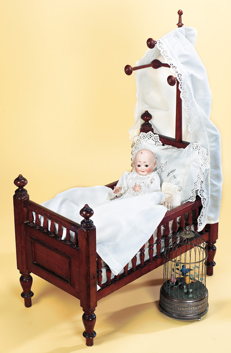Baby cradles and beds from the last century were always made to allow rocking, so the difference price: 441 fancy wooden baby doll bed with canopy