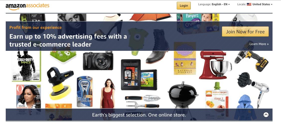 Amazon Associates Program Homepage