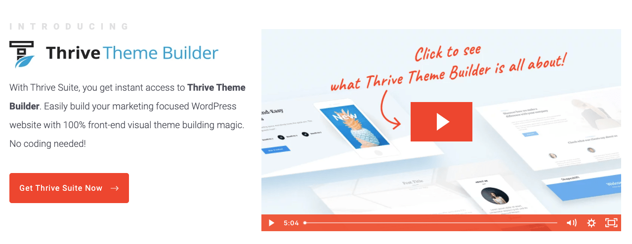 Thrive Theme Builder Page