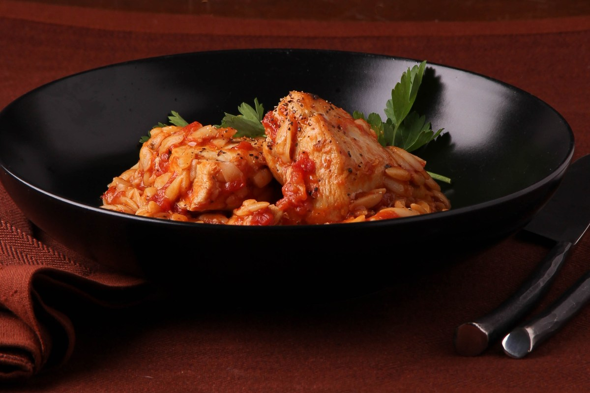 Baked Chicken with Orzo