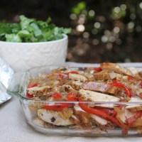 Make Ahead Chicken Fajitas for a Crowd