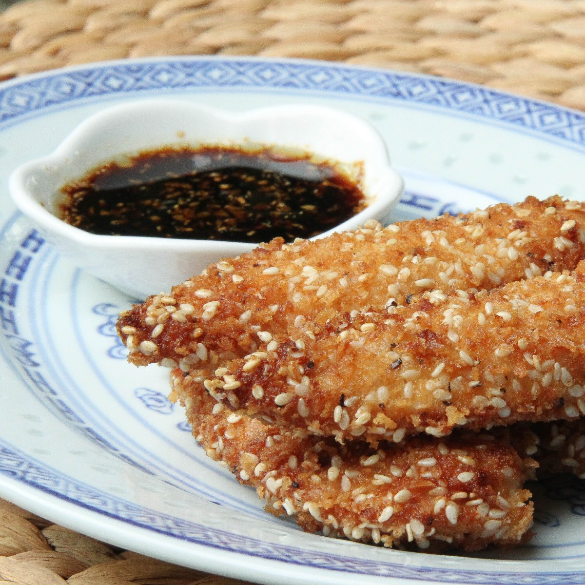 Sesame Chicken Tenders with Ginger Soy Dipping Sauce