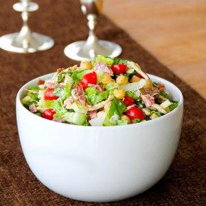 Chopped Antipasto Salad with White Balsamic Vinaigrette
