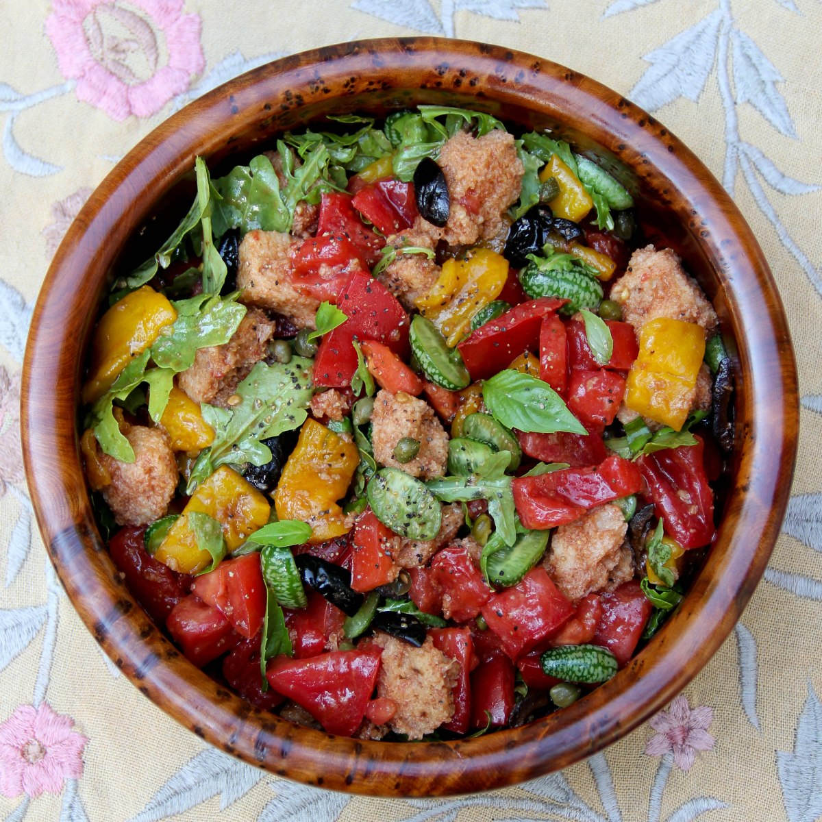 End-of-the-Summer Tomato Bread Salad with Peppers and ...