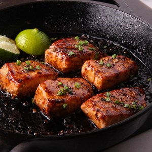 Salmon with Balsamic Thai Chile Glaze